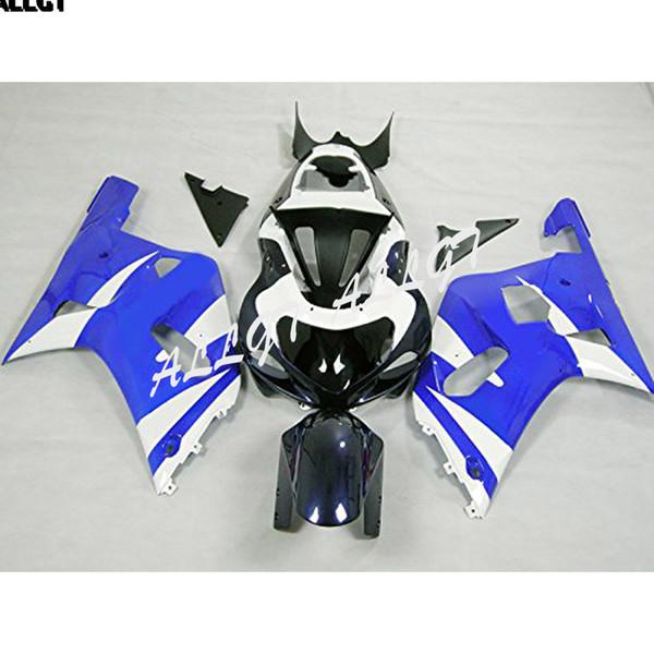 Kit de carenados de motocicletas de inyección de ABS azul blanco negro apto para Suzuki GSXR600 GSXR750 K1 K2 K3 2001 2002 2003 GSXR 600 750 01 02 03