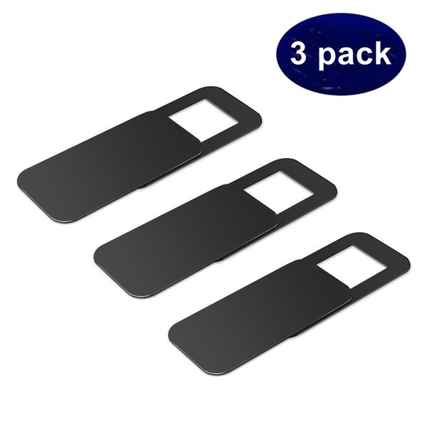3PACK WebCam Cover Shutter Plastic Camera Cover For Web Cam PC Laptops Mobile Phone Lens Privacy Sticker