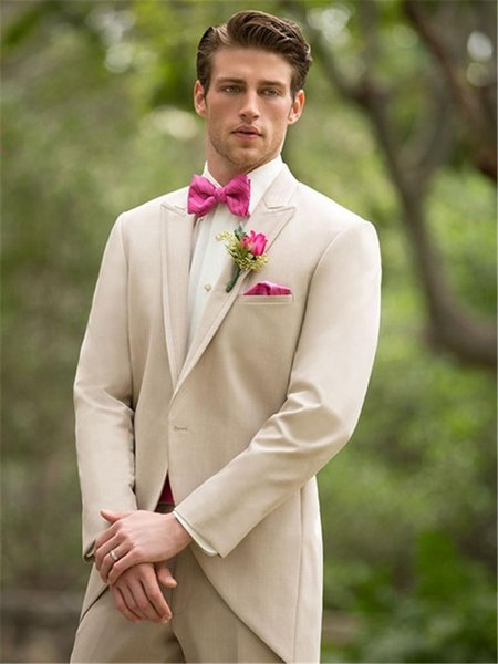 New Style Beige Formal Handsome Best Sale High Quality Wedding Suit Great Suitable Tuxedo For Prom And Blazer For Evening Party Y2