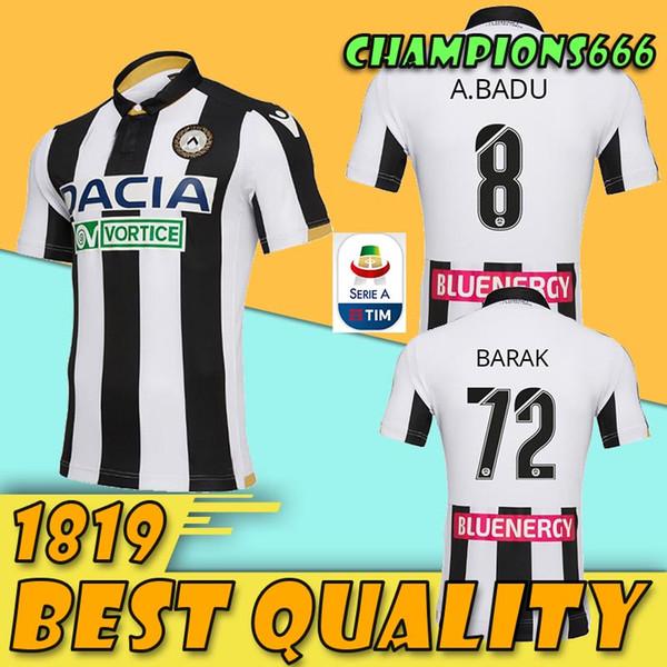 b384c050cdc83 18 19 Camiseta de fútbol de Udinese. Casa blanco negro. Visitante. 10 R