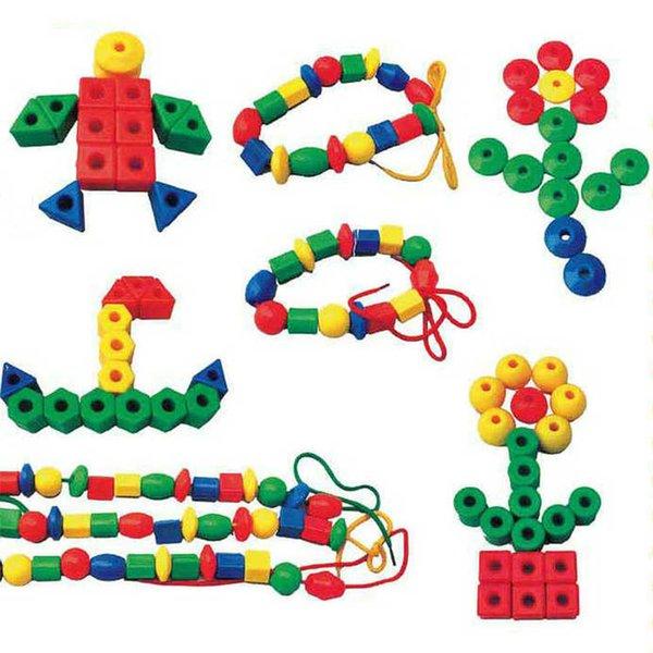 Kit di mattoncini da costruzione Giocattoli Giocattoli Educazione precoce Costruzione Geometria perlina piccola Infilatura Puzzle Combatti i giocattoli educativi in rilievo