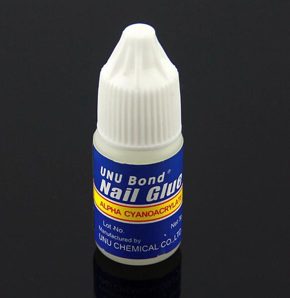 48 unids / lote Glitter Acrílico Rhinestones Decoración Con Nail Art UV Gel Uñas Consejos Pegamento Secado rápido Falso Manicure Glue