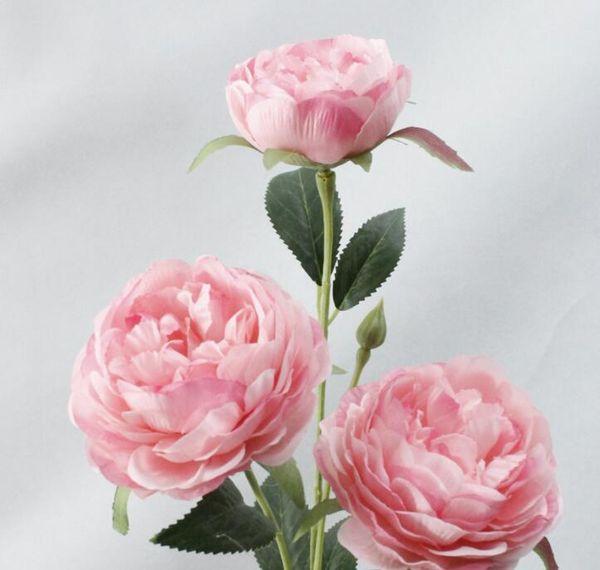 Emulation flower 3 peony, false flower, thousand layers of beauty tea, home decoration simulation plant wedding flower L920