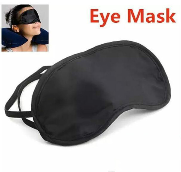 top popular High quality 2500Pcs lot Shade Eyeshade Sleep Rest Travel Eye Masks Nap Cover Blindfold Skin Health Care Treatment Black Sleep 2234 2019