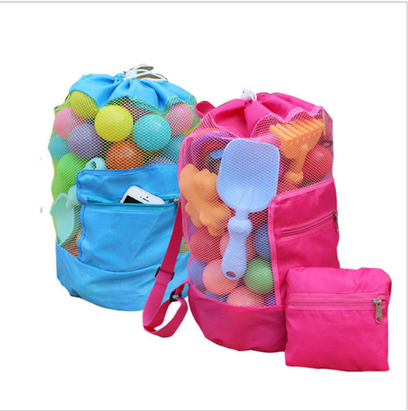 Kids Beach Sand Toys Receive Bags Outdoor Portable Seashell Backpack Children Mesh Sandboxes Pouch Shoulder Bags for Children