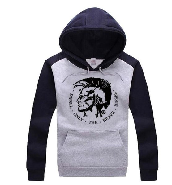 s-5xl free shipping Cotton Blend Wholesale clothing white diese hoodie sweatshirts hip hop Couple/Men pullover
