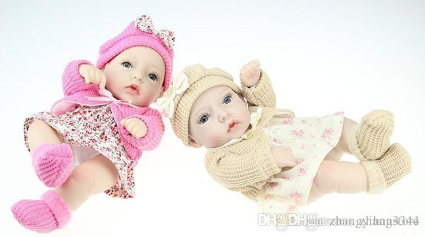 25cm Full Silicone reborn babies Doll Toys The New Likereal Baby Doll Cute Twins Dolls Brinquedos Shower Toy