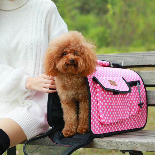 Canvas Stripe Bags Breathable Pet Dog Carrying Dog Travel Slings Bag Portable Foldable Puppy Cat Carrier Bag Soft Small Pet Supplies