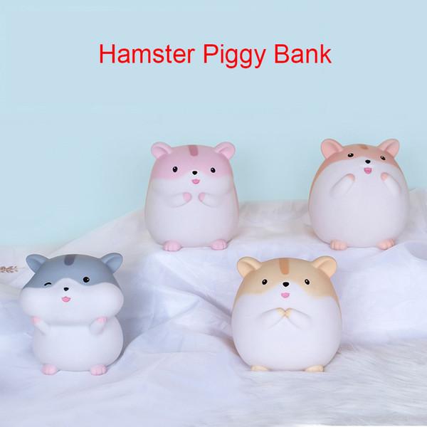 Serie Cartoon Hamster, Artigianato creativo, Salvadanaio piccolo criceto, Artigianato in resina, Ornamenti animali adorabili, Regali di decorazione domestica,