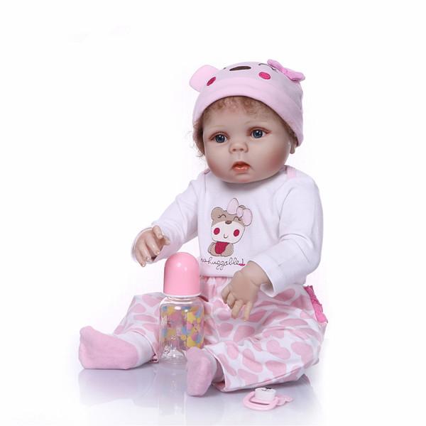 23inch newborn baby full body soft silicone vinyl reborn doll simulation doll 57cm New fashion lifelike newborn girl gift toy