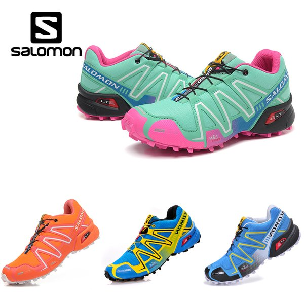 Salomon Speed Cross 3 CS Trail Running Shoes Women Pink Green Speedcross III Lightweight Outdoor Hiking Sports Sneakers 36 40 Men Sports Shoes Shoe