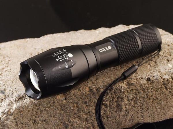 En düşük fiyat, UltraFire T6 CREE XM-L T6 2000 Lümen Yüksek Güç Torch Zumlanabilir LED El Feneri