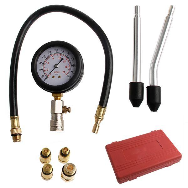 Wholesale-1PC Car Compression Vacuum Testers Portable Engine Cylinder Pressure Gauge Compression Tester Diagnostic Tool Kit