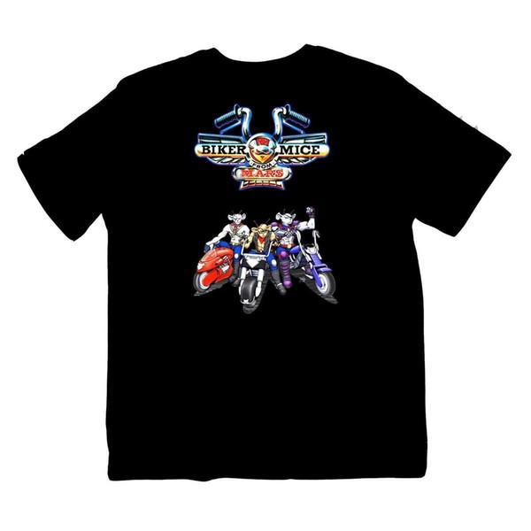 Biker Mice from Mars TV show motor bike 90's Cartoon Shirt S-XXXL colour print