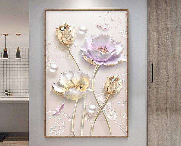 Satın Al özel Elmas Nakış Tam Diy Elmas Boyama Lale çiçek