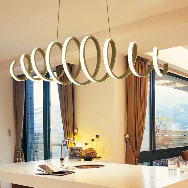 Lampade a sospensione principali acriliche di alluminio del candeliere per la casa facendo uso dell'ufficio facendo uso della lampada della sospensione del pendente principale della cucina della barra della sala da pranzo