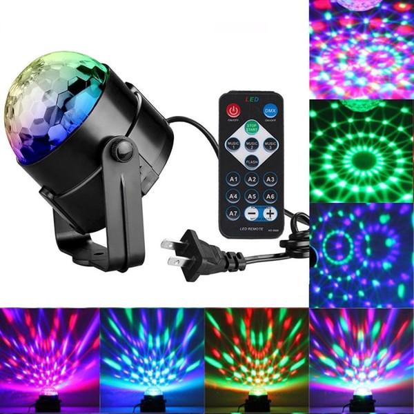 Edison2011 Mini RGB 3 Watt Kristall Magische Kugel Led Bühnenlampe DJ KTV Disco Laserlicht Party Lichter Sound IR Fernbedienung Weihnachten Projektor