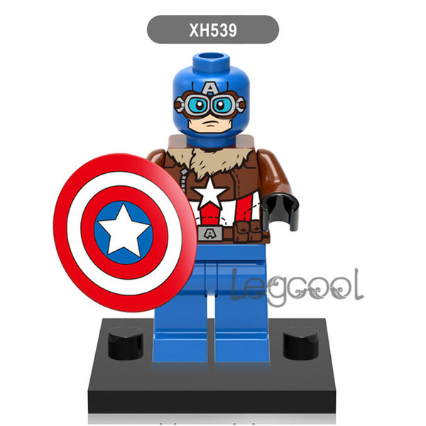 Captain American XH539 10pcs Red She-hulk Super-Adaptoid Hammer Iron Man Coulson Red Hulk Super Heroes Figure Building Blocks Kid Toys X0151