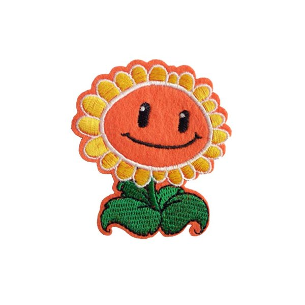 Embroidered cloth patch Size 6.5cm*7.4cm sunflower appliques Back gum sewing Ironing stick decorative patch clothing accessories DL_CPIF006