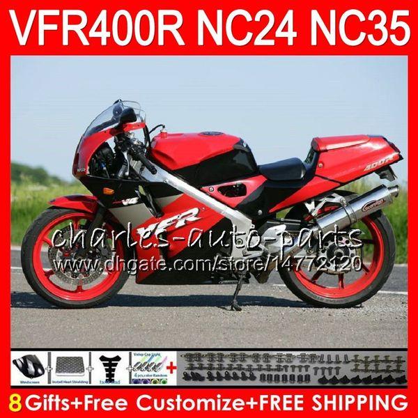 RVF400R For HONDA VFR400 R NC24 V4 VFR400R 87 88 94 95 96 81HM25 RVF VFR 400 R NC35 VFR 400R Factory red 1987 1988 1994 1995 1996 Fairings