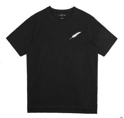 Homens T-shirt de manga curta de algodão bordado T-shirt Renovação Masculina Tops de verão meia manga Tide T