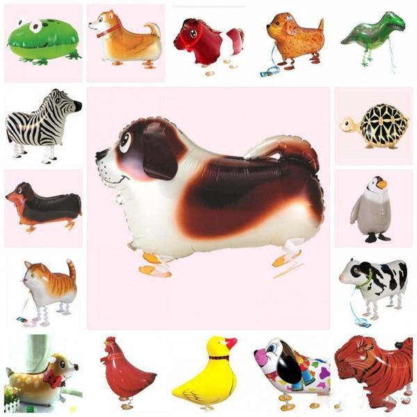 Balão De Hélio Dos Desenhos Animados Multi Animal Forma Airballoon Para Crianças Folha De Alumínio Balões de Ar Brinquedos Engraçados Decoração Do Casamento 2 16hl ii