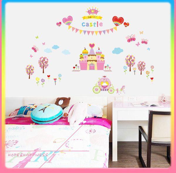 Bulk Lots Fancy THE FAIR CASTLE Wall Stickers Wallpaper Paper Peint 3d Home Decor Bathroom Kitchen Accessories Household Suppllies