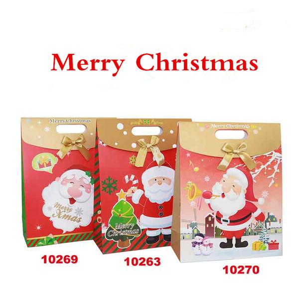 10 X Weihnachtsgeschenk Tasche Handtasche Apple Box Weihnachtsgeschenk Verpackung Taschen Party Deco Versorgung