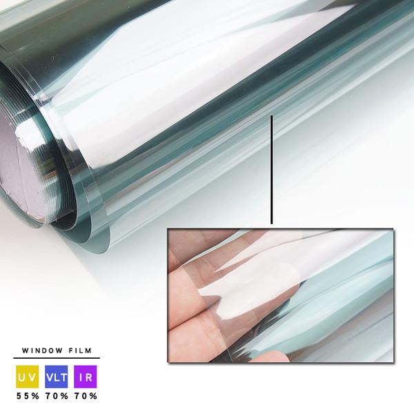 70% VLT Car Front Tint Solar Film! Rollo azul claro de 76x300cm. Parabrisas lateral. Funcionable.