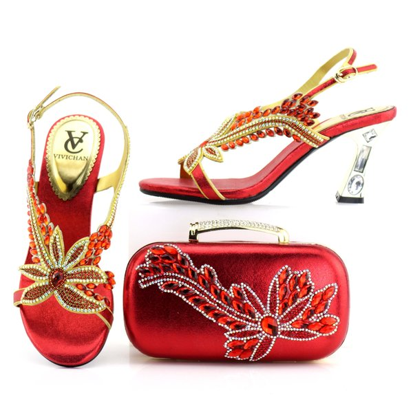 shoes with matching clutch bag,big stones purse with wedge shoes .clutch bag with shoes for party for wedding