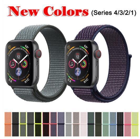Banda para Apple Watch Series 3/2/1 38MM 42MM Nylon Suave Correa de Repuesto Transpirable Sport Loop para iwatch series 4 40MM 44MM