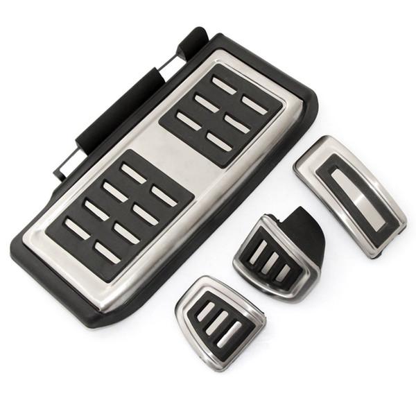 Car Styling Sport Fuel Brake Dead Pedal Cover Set DSG Per Seat Leon 5F MK3 Per Octavia A7 golf 7 Auto Accessories: 4pcs MT