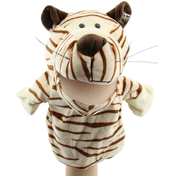 Cute Plush Velour Animals Hand Puppets Chic Designs Kid Child Learning Aid Toy