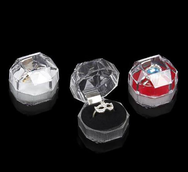 Akrilik Narin Moda Takı Kutusu Yüzük Bilezik Kolye Boncuk Küpe Pimleri Yüzük Tutucu Için Ekran Kutusu mücevher kutuları ve ambalaj