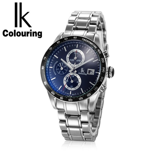 IK Colouring Men's Mechanical Sport Watch Full Stainless Steel 10ATM Water Resistant Male Automatic Wristwatch Auto Date Relogio