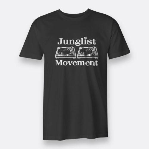 Dj Junglist Movement Negro Camisetas para hombre Tamaño S-3XL Camiseta de buena calidad Marca de algodón Camisa estilo fresco Camisas