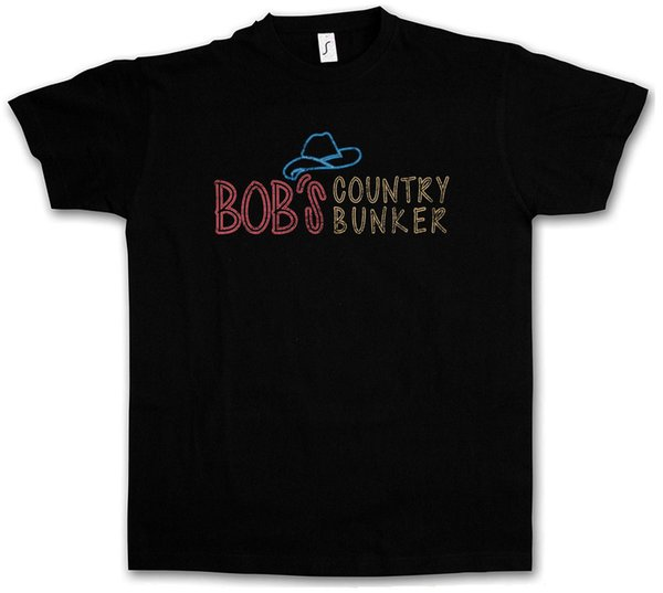 Bob's Country Bunker T-Shirt Blues Bar Club Brothers Symbol I Sign Logo The Funny free shipping Unisex Casual tee gift