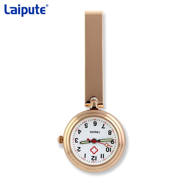 NEW fashion full colors design pin nurse FOB pocket watch unisex ladies women doctor medical hang watches steel case back