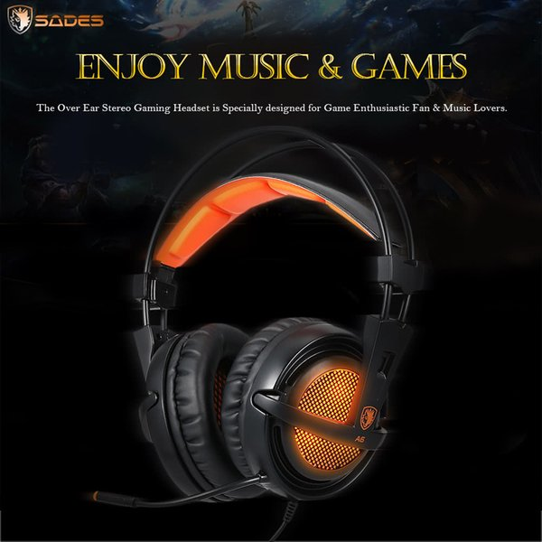 Luminous Gaming Headset Headband Headphones with USB Wired Earphone Microphone Led Light for Computer PC LOL Game iPhone Smart Phones
