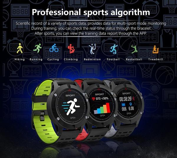 F5 Waterproof GPS Smart Watch Colorful Screen Bluetooth smart bracelet Blood Pressure Heart Rate Wristwatch 30m Waterproof