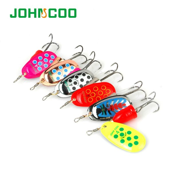 Hot Sale 6pcsSpinner Metal Spoon NO2-NO5 Fishing Lures Set Spinner Baits CrankBait Bass Tackle Hook Free Shipping Y18100906