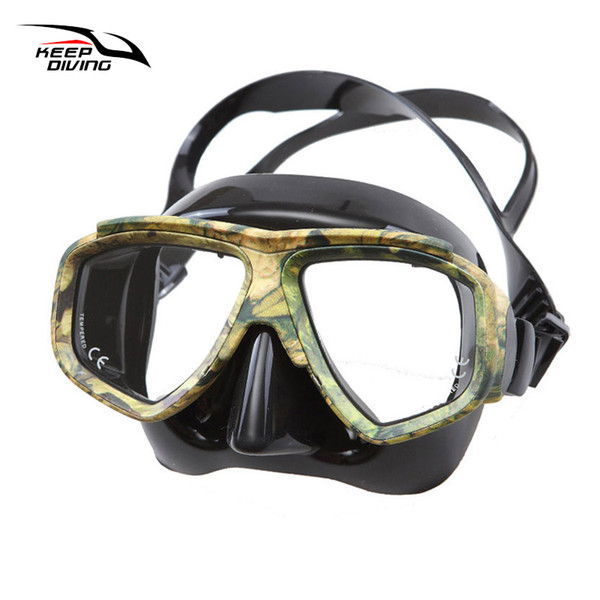 Keep Diving Professional Disguise Camouflage Scuba Dive Mask Myopic Optical Lens Snorkeling Gear Spearfishing Myopia Goggles