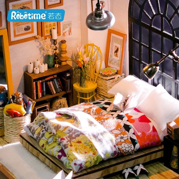 top popular If state diy cottage 3d puzzle jigsaw puzzle Creative handmade assembly model Alice Sweet Dream Bedroom 2021