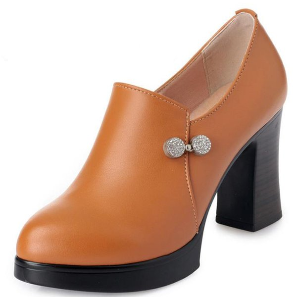 2018 automne nouvelles chaussures pour femmes en cuir véritable confortables chaussures de travail professionnelles respirantes