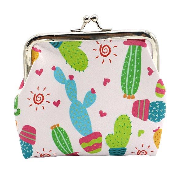 Cartone animato cactus borsa donna signora ragazza modello unico portamonete denaro di alta qualità Cambia sacchetto sacchetto portachiavi
