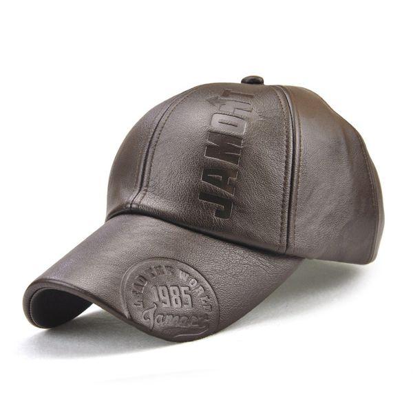 3 Colors Unisex Leather Baseball Caps Gentleman Snapbacks Casquette Designer Hat Dad Hat Bucket Fitted Hat Brand Hats