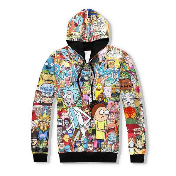 3D print hoodies sweatshirt men hoodie comic casual tracksuit pullover dropship streetwear