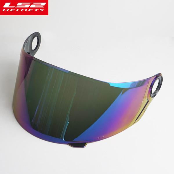 Visiera scudo LS2 FF396 full face in fibra di carbonio casco moto casco esterno casco moto Protezione sicurezza visiera parasole in vetro