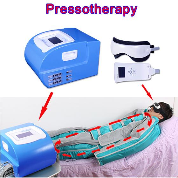 24 pcs Air pressure pressotherapy body massage cellulite Reduction slim wave machine pressotherapy lymph drainage machine