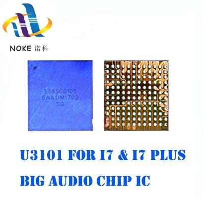 20 pcs completa original novo 338S00105 grande grande ic áudio para iphone 7 7 p 7 plus anel ic chip